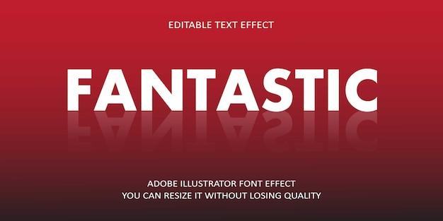 Fantastische bearbeitbare vektor-text-effekt-schriftart