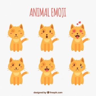 Fantastische emoji auswahl der katze
