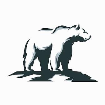 Fantastische illustrationsentwürfe des weißen bären