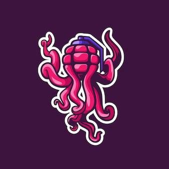 Fantastische kombination oktopus mit granate
