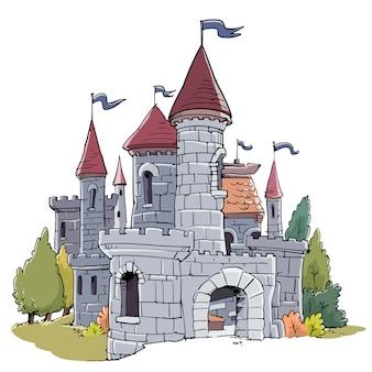 Fantastische mittelalterliche burg