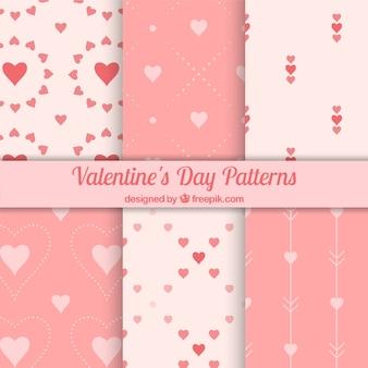 Fantastische muster in rosa tönen bereit für den valentinstag