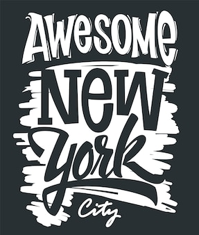 Fantastische new yorker typografie, t-shirt-druck.