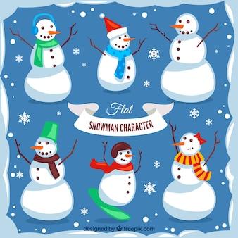 Fantastische sammlung von schneemänner für weihnachten