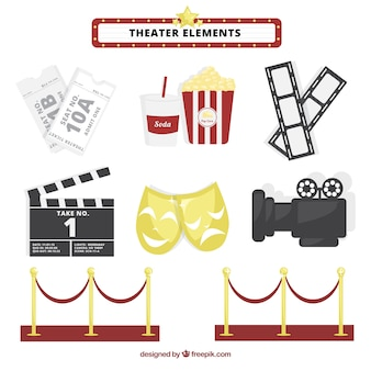 Fantastische theater-elemente-sammlung