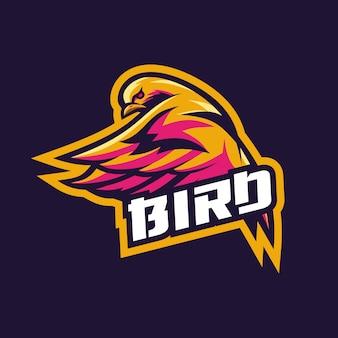 Fantastischer entwurf des vogelesport-logoentwurfs