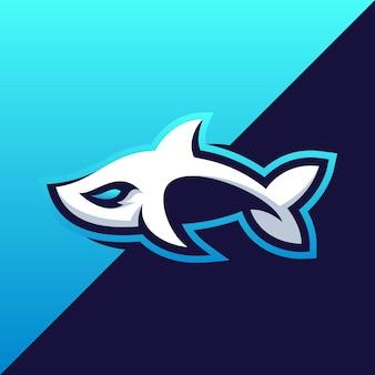 Fantastischer haifischillustrationsentwurf