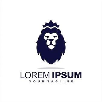 Fantastischer könig der löwen-logoentwurf