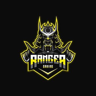 Fantastischer ninja logoentwurf