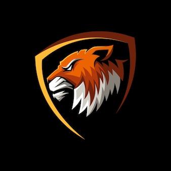 Fantastischer tiger mascot