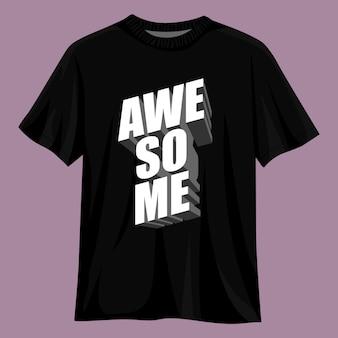 Fantastisches 3d-typografie-t-shirt-design