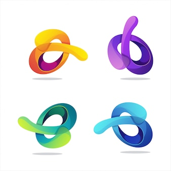 Fantastisches abstraktes logo der steigung