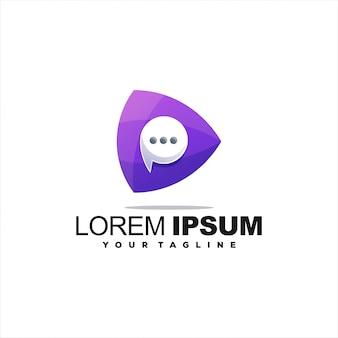 Fantastisches chat-medien-logo