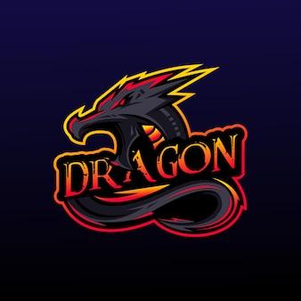 Fantastisches drachenlogodesign
