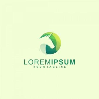 Fantastisches einhorn-logo