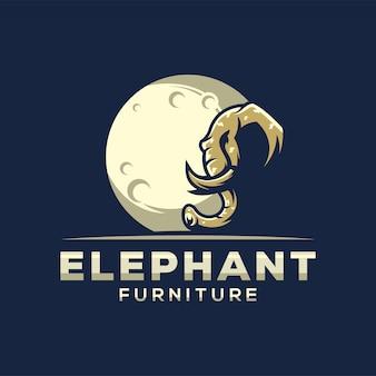 Fantastisches elefantlogo für möbel