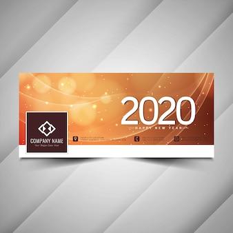 Fantastisches facebook-cover für das neue jahr 2020