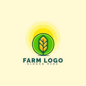 Fantastisches farm-logo-konzept