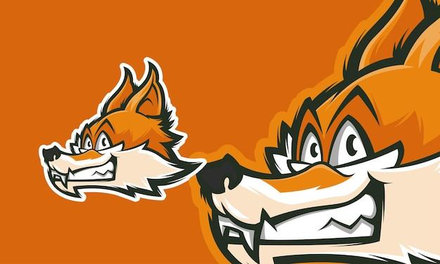 Fantastisches fuchs-logo-design gebrauchsfertig premium-vektor-maskottchen-illustration