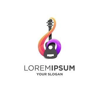 Fantastisches gitarrenmusik-logo