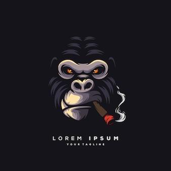 Fantastisches gorilla-logo