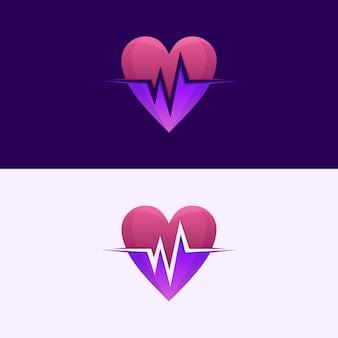 Fantastisches herzschlag-logo