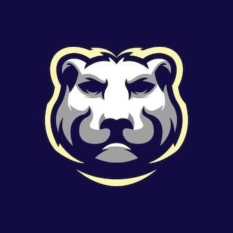 Fantastisches kopfbär-logo-design