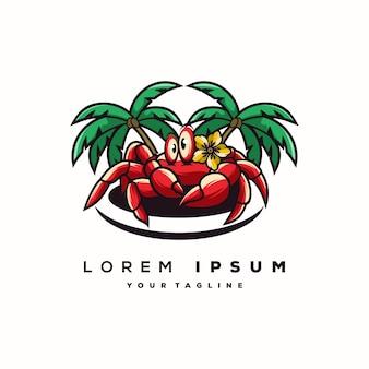 Fantastisches krabben-logo