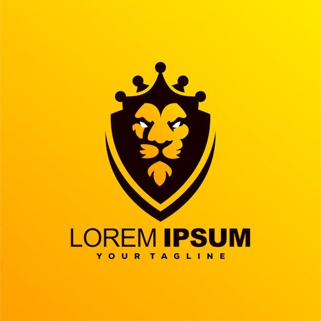 Fantastisches löwenkönig-logo-design