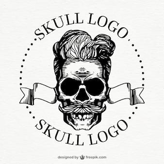 Fantastisches schädel-logo