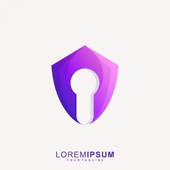 Fantastisches sicheres schloss-logo