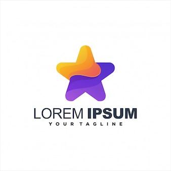 Fantastisches sternverlauf-logo-design
