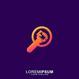 Fantastisches suchgeräte-symbol premium-logo