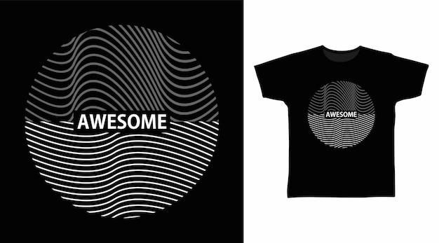 Fantastisches t-shirt-design mit kreislinie kunsttypografie