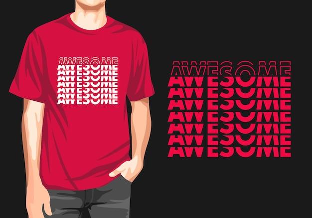 Fantastisches typografie-t-shirt