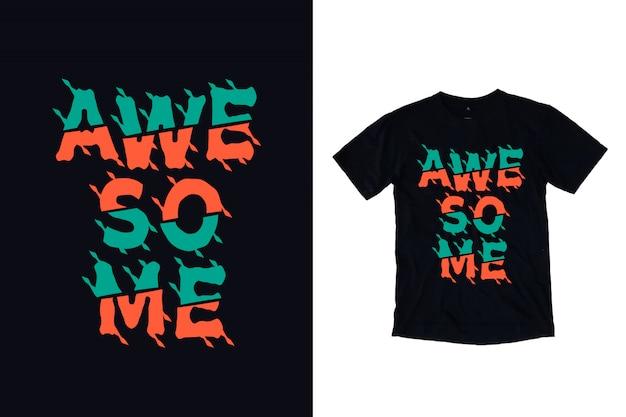 Fantastisches typografiet-shirt