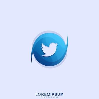 Fantastisches vogel-logo