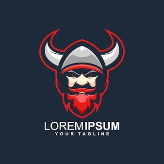 Fantastisches wikinger-logo