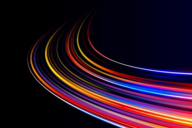 Fantasy high speed lichter hintergrund