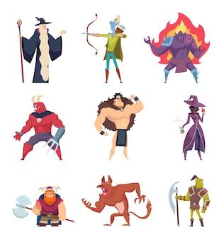 Fantasy-kreaturen gesetzt