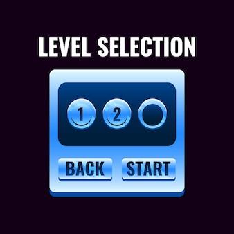 Fantasy space game ui level auswahl schnittstelle für 2d spiele illustration