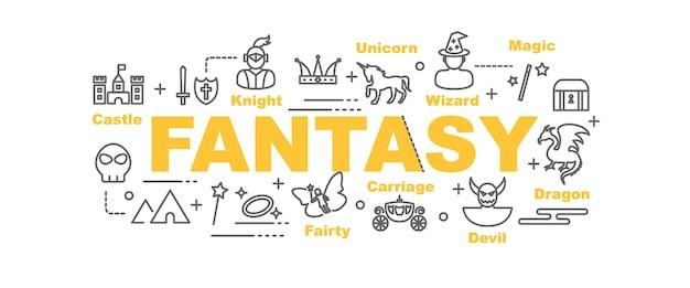 Fantasy-vektor-banner