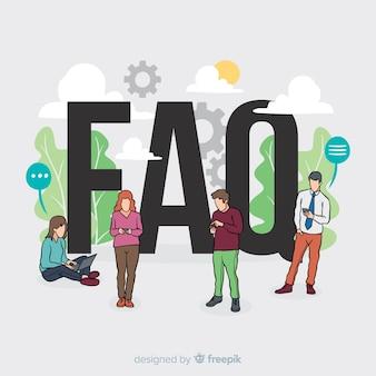 Faq-konzept