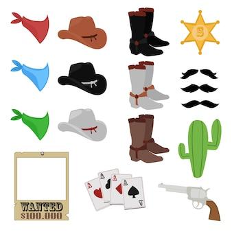 Far west cowboy-klipp-kunst