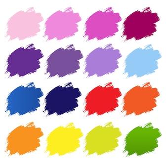 Farb-blobs-banner-weißer hintergrund, illustration.