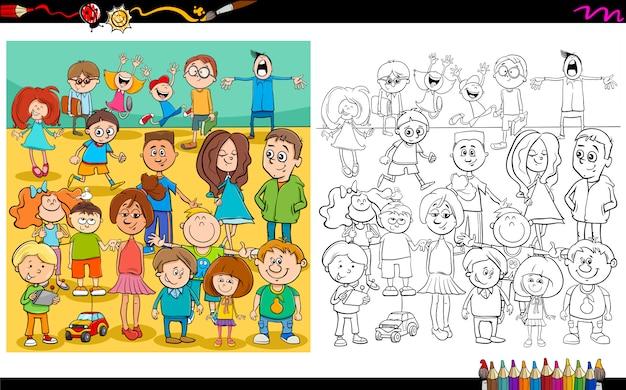 Farbbuch für kinder und jugendliche
