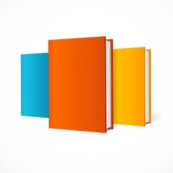 Farbbuch-set. leeres vertikales cover mit seiten.