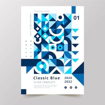 Farbe der plakatschablone des jahres 2020