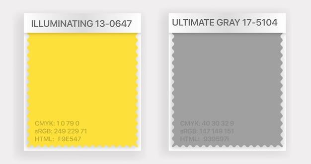 Farbe des jahres 2021 farbmusterillustration