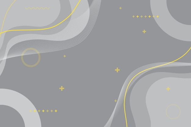 Farbe des jahres 2021 welliger gelber linienhintergrund